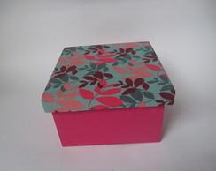 Caixa Mdf quadrada tampa em tecido