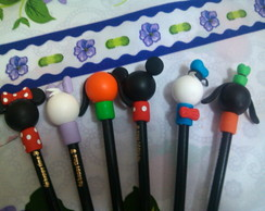 l�pis com ponteira turma do mickey