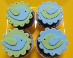 Mini cupcake Passarinhos