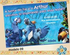 Convite Filme Rio 2