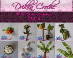 Dvd mini frutas e legumes em croche