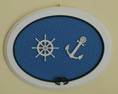 Quadrinho Oval Azul - Marinheiro