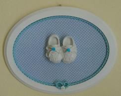 Quadrinho Oval Azul - Sapatinho