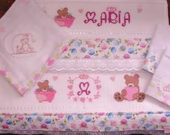 Kit de toalhas Ursinha Candy