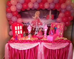 Decora��o Barbie Moda e Magia - Aluguel