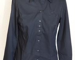 Camisa feminina manga longa Preto
