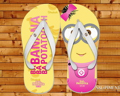 Chinelo Minions Boy e Girl c/ Piercing