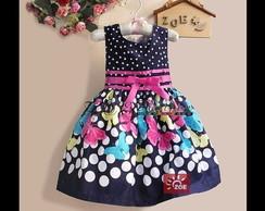 Vestido Festa Infantil Borboleta