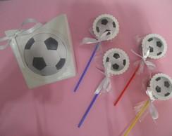 pirulitos com 30 unid de bola futebol