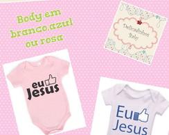 Body Personalizado eu amo Jesus