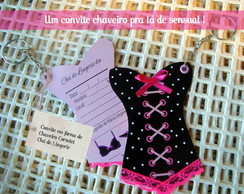 30 Convites Chaveiros Ch� Lingerie Pinup