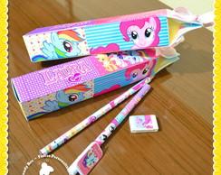 Caixinha lapis e caneta My Little Pony