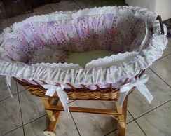 carrinho de vime para beb�