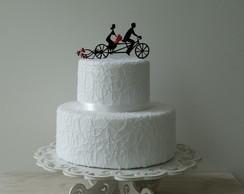 Silhueta Casal de Bicicleta