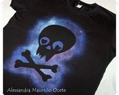 Camiseta Galaxy Caveira