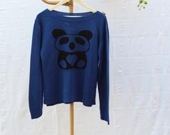 Blusa de Tric� do Panda