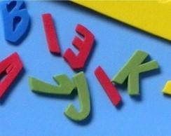 Vogais em eva para escrita de nome