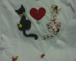 Camiseta de Casal de Gatinhos