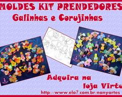 Kit de moldes prendedor Galinhas/corujas