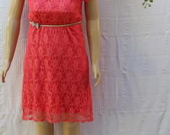 Vestido de Renda Coral