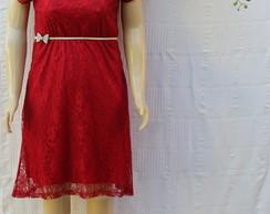 Vestido de Renda Vermelho