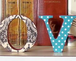 Palavra decorativa LOVE em MDF