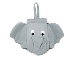 Lixeira De Carro Elefante Cinza