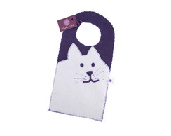 Porta-lixo gatinho roxo em feltro