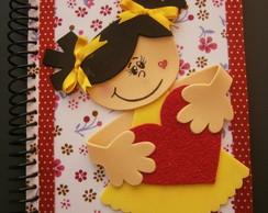 Caderno Menina e Cora��o