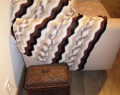 Manta de crochet para Sof� ou Colcha