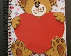 Caderno Ursinho e cora��o