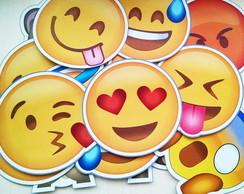 10 Placas Plaquinhas Emoji FRETE GR�TIS