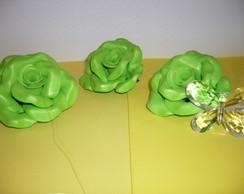 Pingente de cortina - Verde/Borboleta