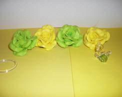 Pingente de cortina P - Verde/Amarelo
