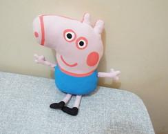 George da peppa pig em tecido