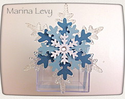 Caixa Frozen - Floco de neve cristal