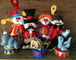 Conjunto de bonecos Tema Circo