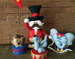 Conjunto Domador e animais Tema Circo
