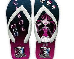 Chinelos Personalizados Monster High