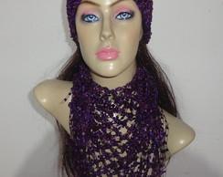 Cachecol feminino (conjunto em croch�)