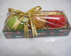 Caixa de sabonetes esfera natal