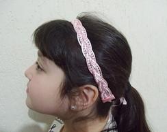 Faixa YARA rosa beb� p�rola branca