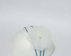 PRINCESA SOFIA flor VOAL 7cm p�rola 4MM