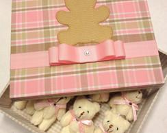 Kit Caixa + 12 Lembrancinhas Urso