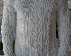 Blusa de trico masculina branca