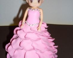 Mini Boneca Com Vestido De Eva - Rosa 1