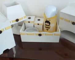 Kit Higiene Xadrez - Abelhas - 8 p�s