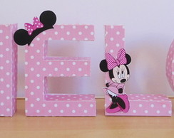 Letras decorativas Minnie rosa
