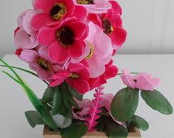 Mini Jardineira Rosa