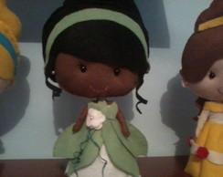 Boneca de Feltro A Princesa e o Sapo